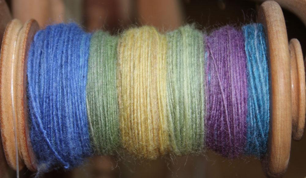 Fraktales Spinnen - Single 1. Hälfte mit langem Farbverlauf