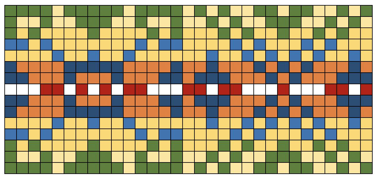 Farben eines typischen Fair-Isle-Musters